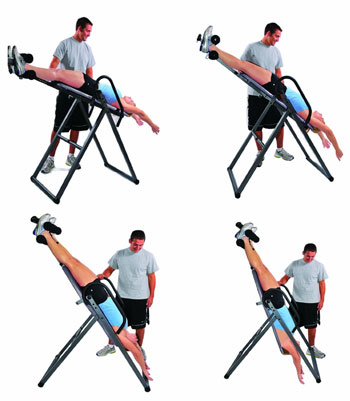 4 Positions of the Innova Fitness Inversion table
