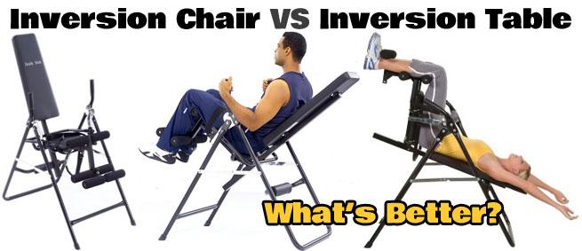 Inversion Table VS Inversion Chair